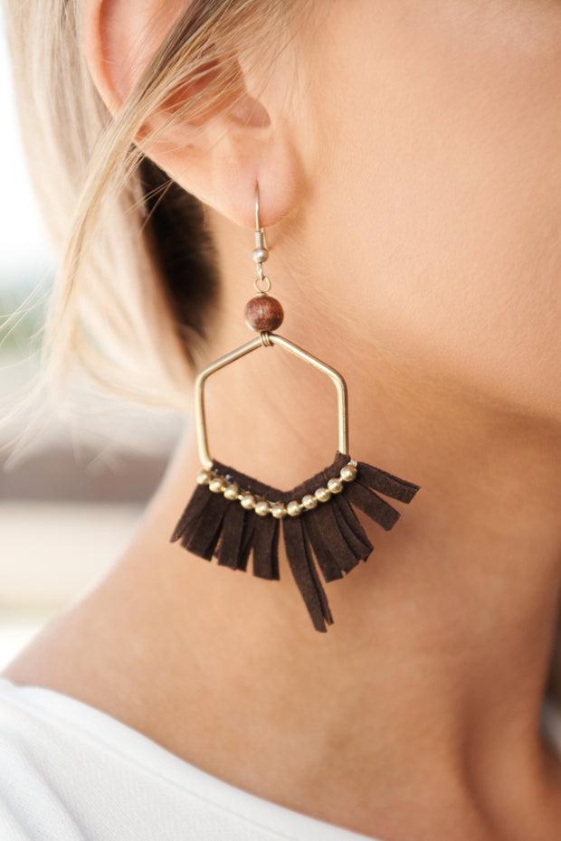 Simply Ageless Hoop Earrings (Brown)