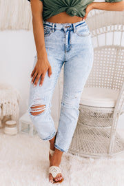 Let's Make A Deal High Rise Denim (Light Denim) - NanaMacs