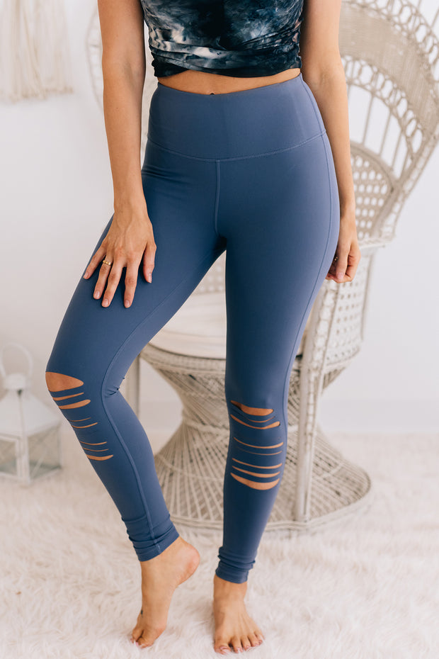 No Lies Cut Out Leggings (Ink Blue) - NanaMacs
