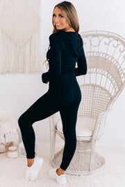 Simple Routine Solid Activewear Set (Black) - NanaMacs
