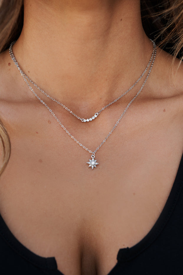 Astral Multi Layer Necklace (Silver)
