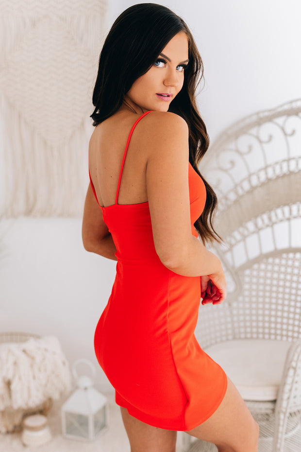 An Unforgettable Night Cut Out Bodycon (Tangerine) - NanaMacs