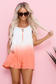 Power Of Love Romper (Coral)