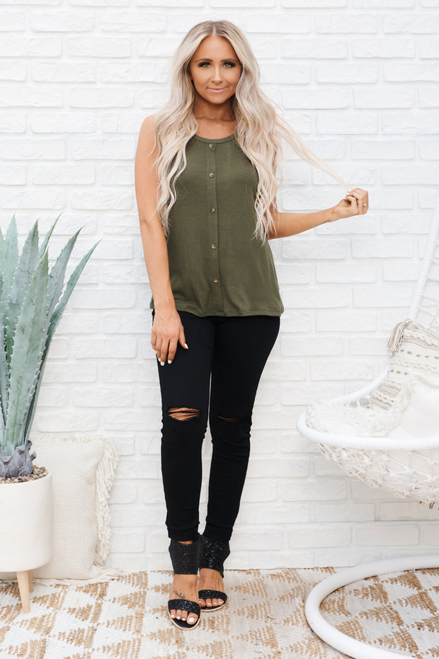 Please Explain Top (Olive)