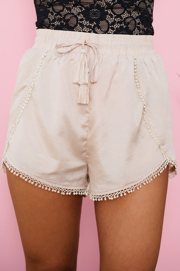 Sugar Coat Shorts (Light Taupe)