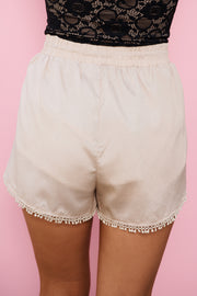 Sugar Coat Shorts (Light Taupe) - NanaMacs