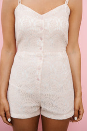 Can't Miss This Lace Romper (Mauve)