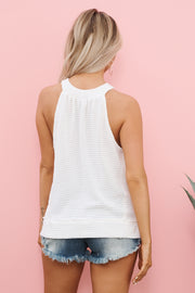 Practice Makes Perfect Halter Top (Off White)