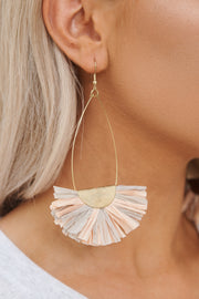 Compatible With Me Drop Earrings (Dusty Pink/Taupe) - NanaMacs