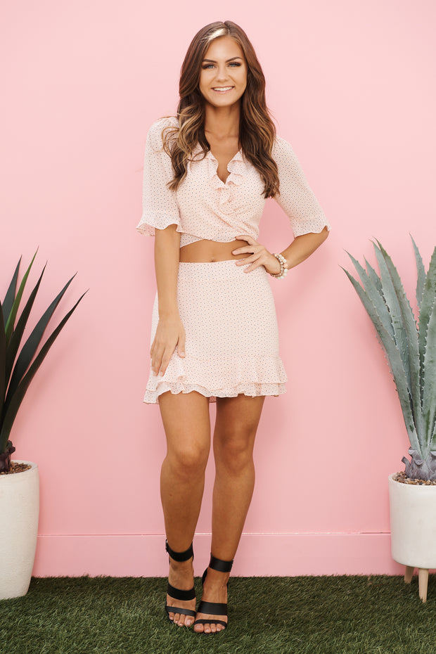 Delicate Moment Two Piece Set (Blush)