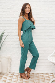 Thrive With Me Jumpsuit (Dusty Teal)