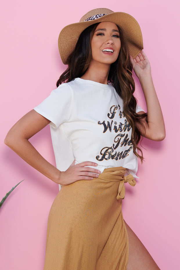 """I'm With The Band"" Graphic Tee (Ivory)"