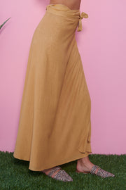 Love Lane Tie Skirt (Mustard)