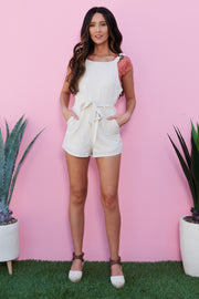 Play It Fair Romper (Beige) - NanaMacs