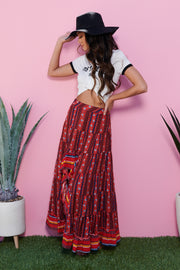 Warm Welcome High-Low Skirt (Red)