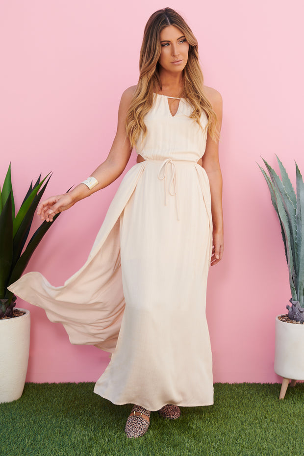 Starry Sky Maxi Dress (Natural)