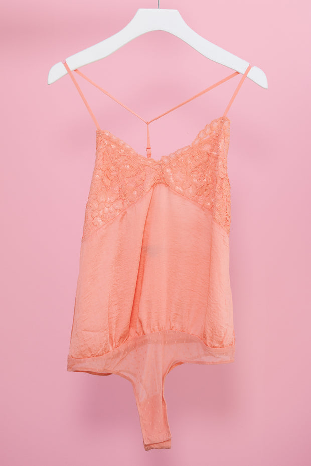 Arms Around You Bodysuit (Coral)