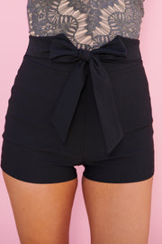 Sealed With A Bow Shorts (Black)