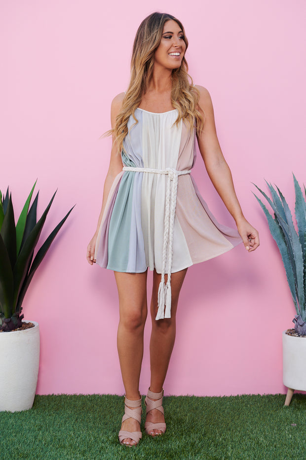 Desert Sunrise Dress (Multi Stripe)