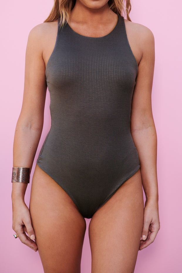 Simple Minds Bodysuit (Brown)