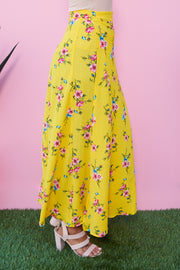 Catching Feelings Maxi Wrap Skirt (Yellow) - NanaMacs