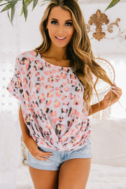 PRE-ORDER Wild About You Leopard Print Top (Pink) - NanaMacs