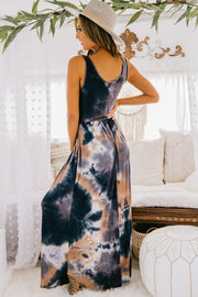 Someone To You Tie Dye Maxi Dress (Black) - NanaMacs