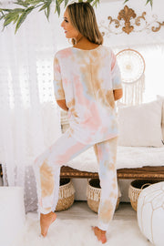 PRE-ORDER Getting Cozy Tie Dye Two Piece Set (Multi) - NanaMacs