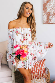 Expression Of Love Floral Romper (White) - NanaMacs