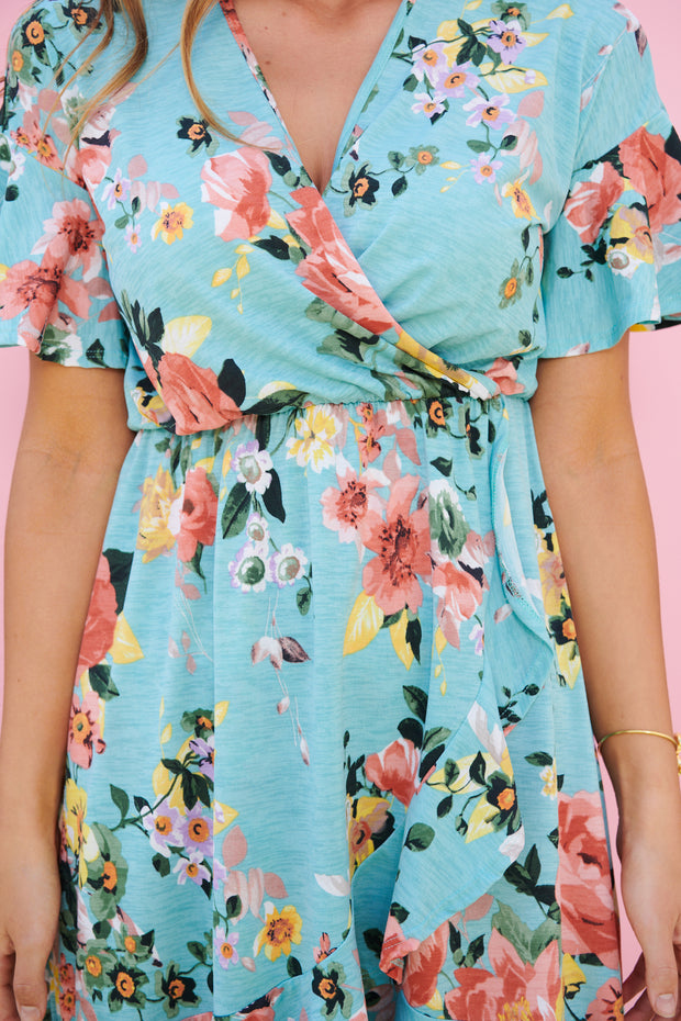 Fully Bloomed Dress (Mint)