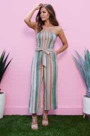Chasing Rainbows Jumpsuit (Taupe)