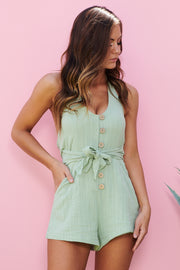 My Own Way Romper (Matcha) - NanaMacs