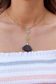 Crown Chakra Necklace (Dark Grey)