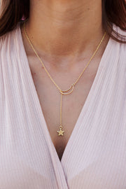 Ancient Love Lariat Necklace (Gold)