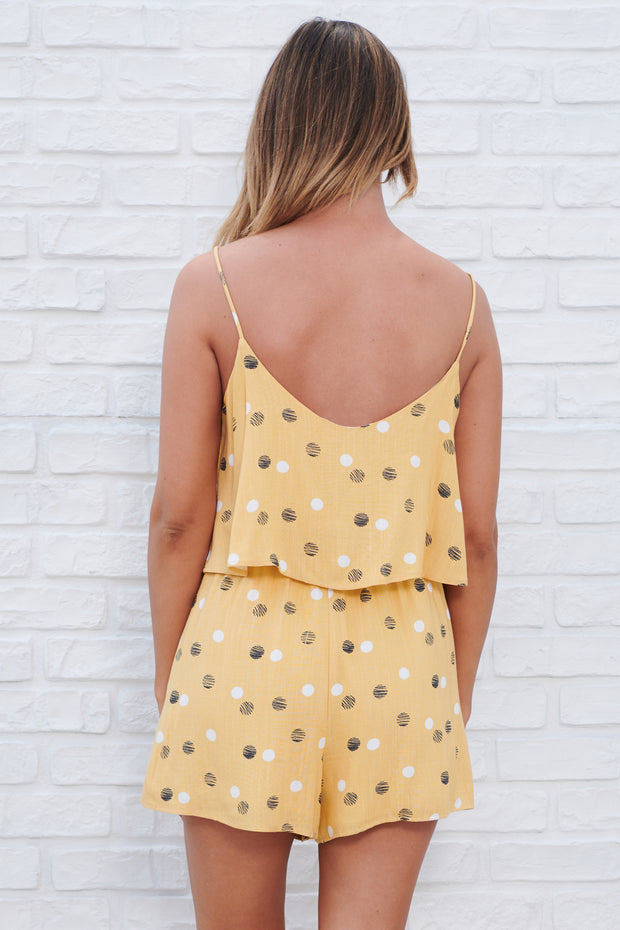 Worth The Time Romper (Mango/Black)