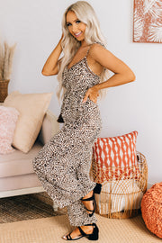 Easy To Find Wide Leg Jumpsuit (Brown) - NanaMacs