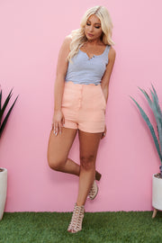 Cute And Sweet Shorts (Cantaloupe)