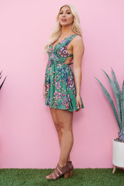 Flower Play Dress (Green)