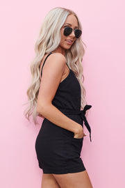 Hardly Working Romper (Black)