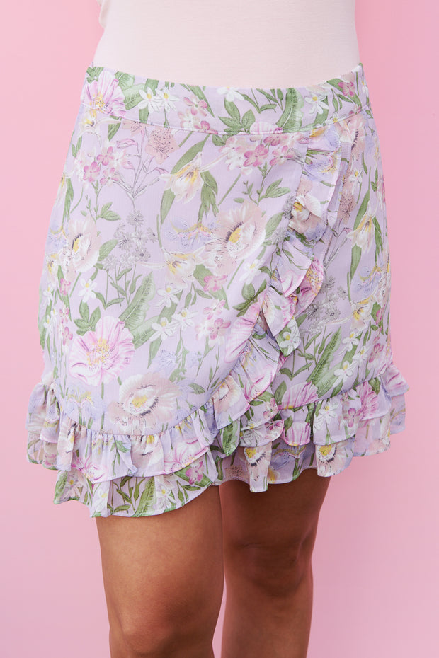 Delightful Day Wrap Skirt (Lavender) - NanaMacs