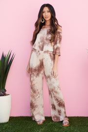 Mix In My Love Tie Dye Jumpsuit (Wooden)