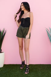 Love Stitches Shorts (Army)