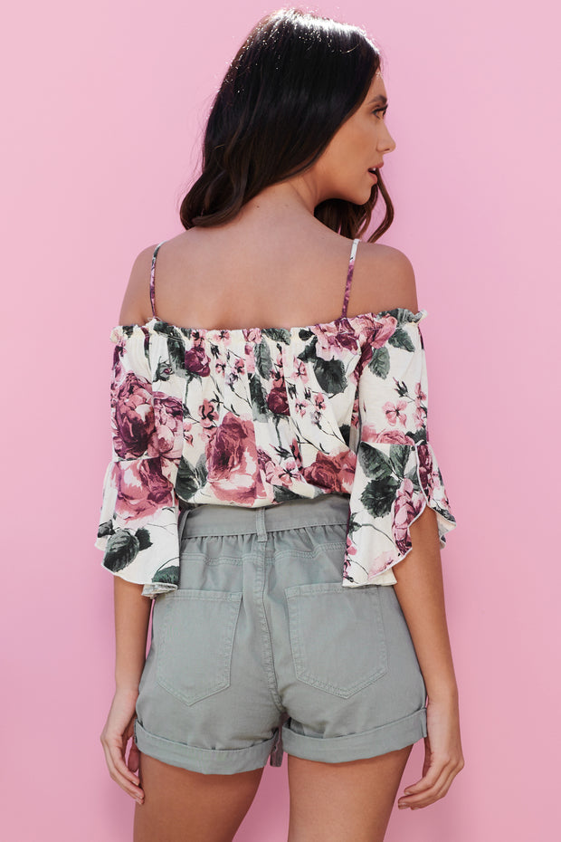 Looking For Love Off The Shoulder Top (Wine) - NanaMacs