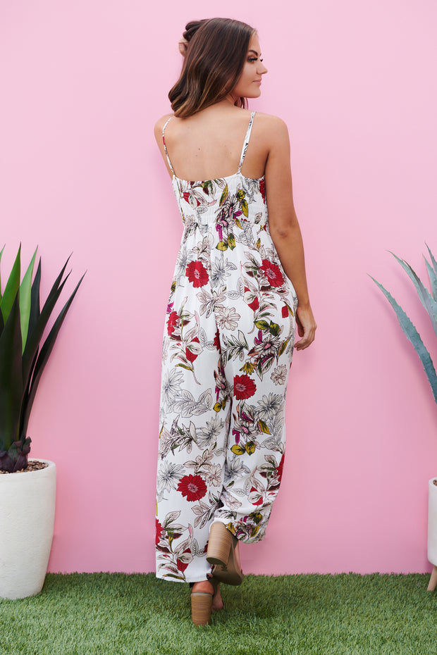 Flirty And Thriving Jumpsuit (White)