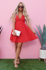 Flirty And Fun Dress (Red)