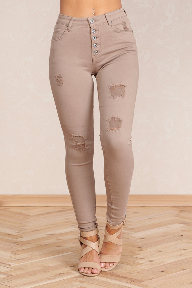 For The Win Denim Pants (Cocoa)
