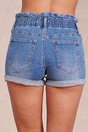 Home Girl Denim Shorts (Medium Wash)