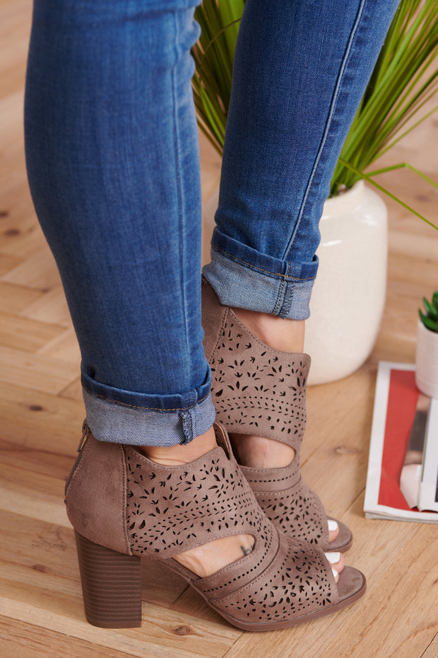 Oh Honey Booties (Taupe)