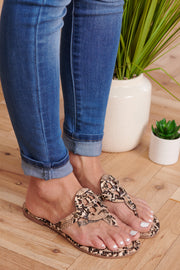 Ready Now Slip On Sandals (Tan Snake)
