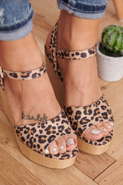 No Flaws Wedges (Natural Cheetah)